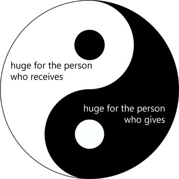 For The Person Who Receives And For The Person Who Gives