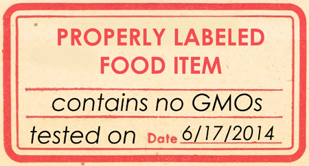 Properly Labeled Food Items - No GMOs