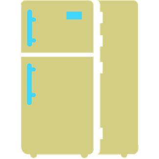 Tan Refrigerator